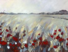 Grasses and Poppies SOLD