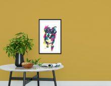 Dachshund 'Pretty Please' print (£50)